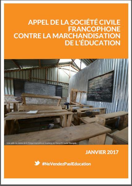 Rapport de la Rencontre francophone sur la marchandisation et la privatisation de l'Education